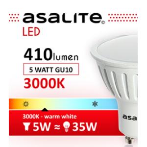 ASALITE BEC LED SPOT 5W GU10 3000K 410 LUMEN