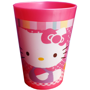 PAHAR DIN PLASTIC HELLO KITTY 250ML