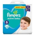 SCUTECE PAMPERS ACTIVE BABY DRY 13-18KG 56BUC (6)
