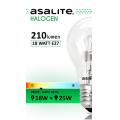 ASALITE BEC HALOGEN 18W A55 E27 210 LUMEN