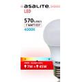 ASALITE BEC LED GLOB A60 7W 4000K 570 LUMEN
