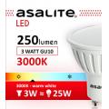 ASALITE BEC LED SPOT 3W GU10 3000K 250 LUMEN