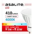 ASALITE BEC LED SPOT 5W GU10 4000K 410 LUMEN