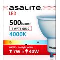 ASALITE BEC LED SPOT 7W GU10 4000K 500 LUMEN