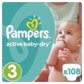 SCUTECE PAMPERS ACTIVE BABY DRY 5-9KG 108BUC (3)